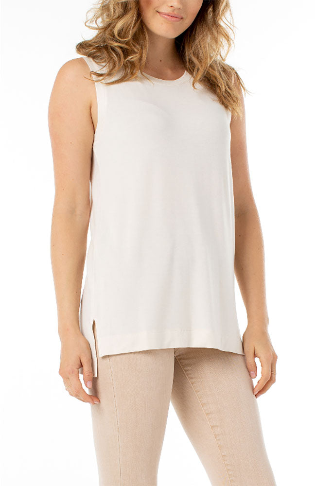 Sleeveless Knit Scoop Neck Tank
