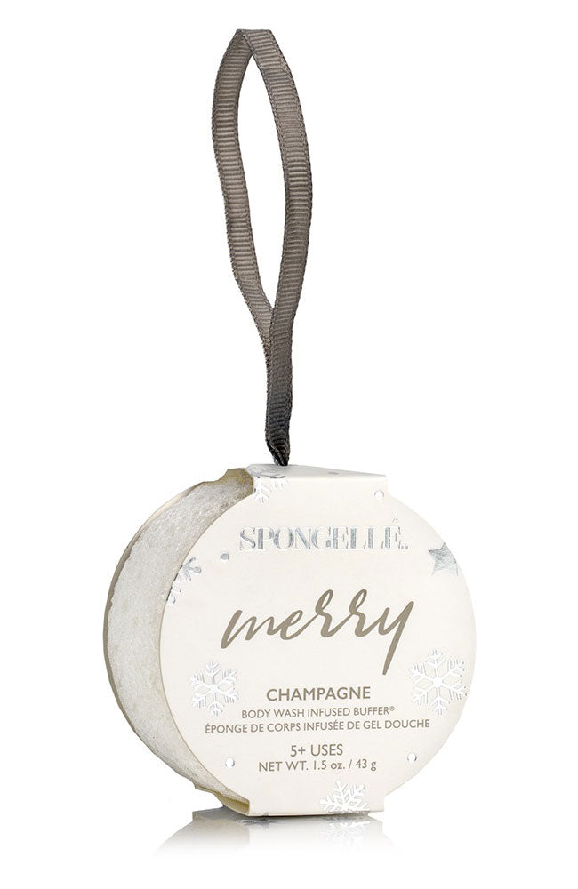 Merry Champagne Holiday Ornament