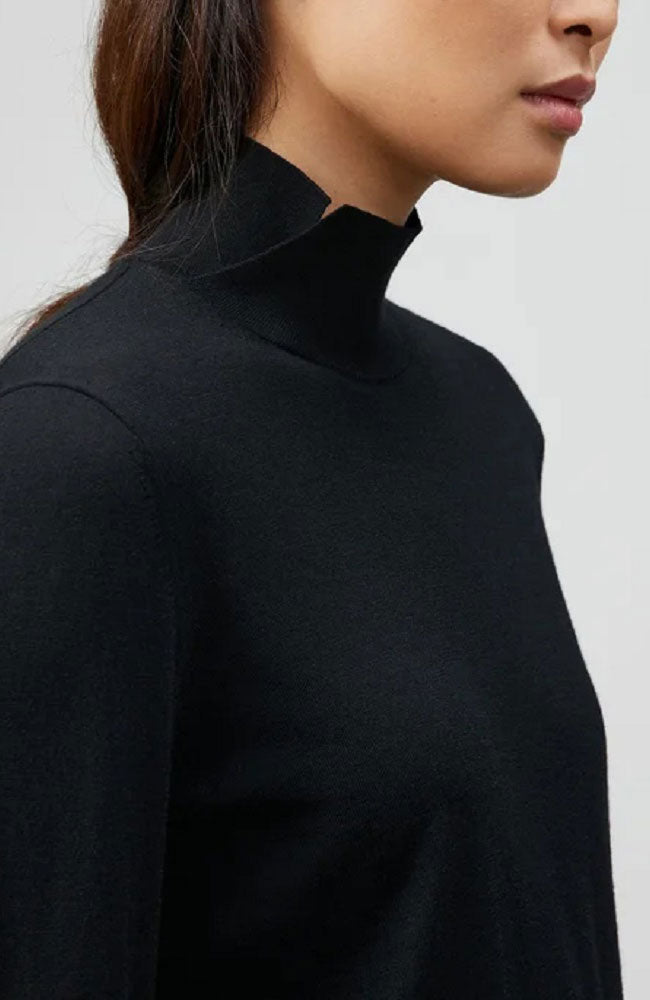 Side Split Stand Collar Sweater
