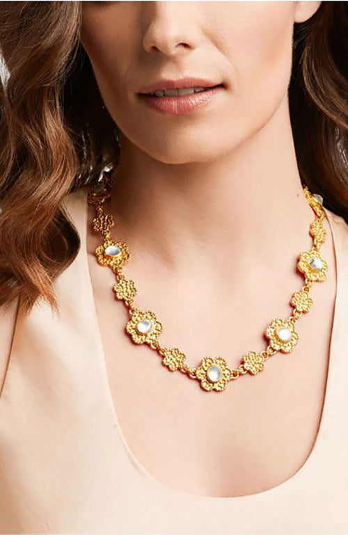 Colette Statement Necklace Pearl