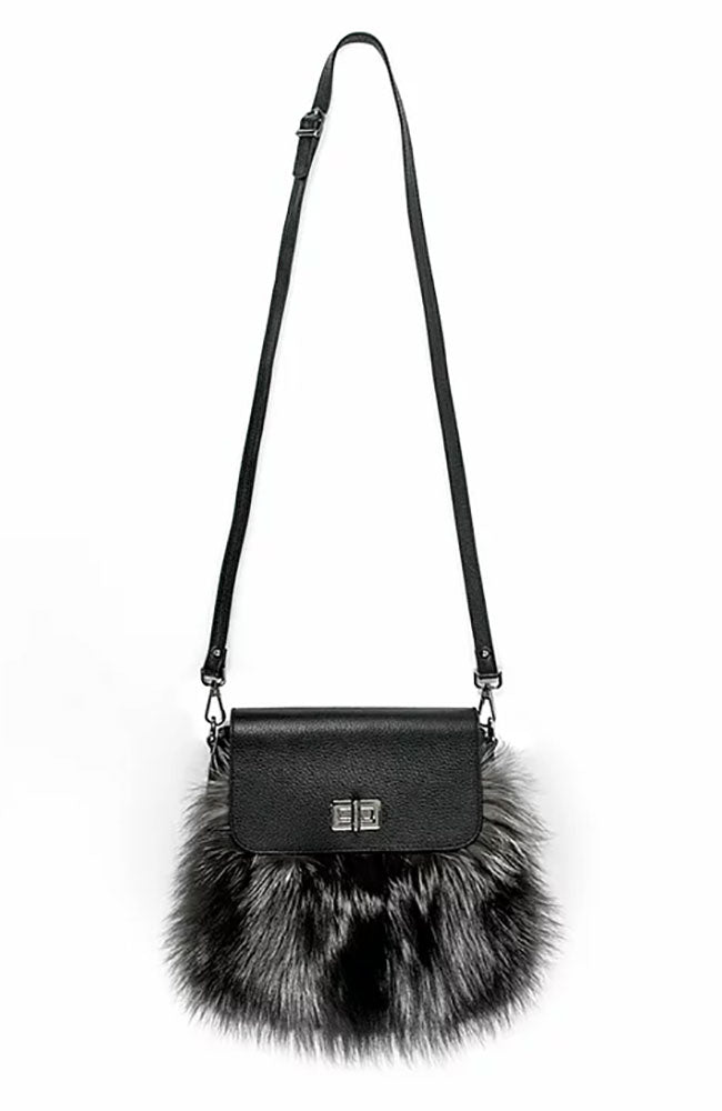 Leather Fox Trim Handbag