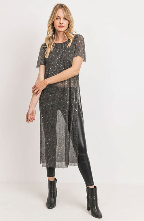 Lurex Sequin Tunic