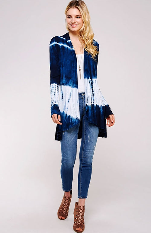 Bamboo Tie Dye Long Sleeve Cardigan