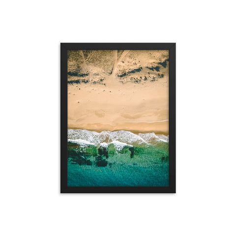 Beach Topdown - Framed poster
