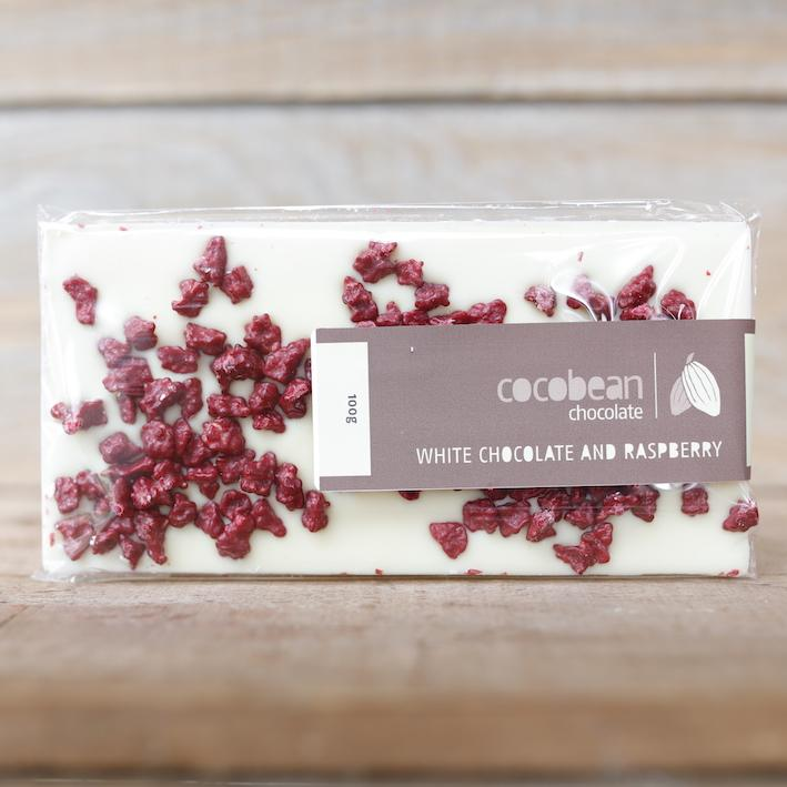 Cocobean White Chocolate and Raspberry Bar