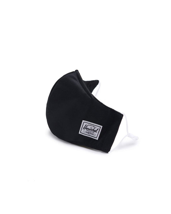 Herschel Black Fitted Face Mask
