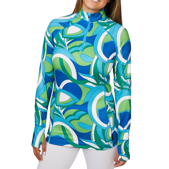 Hot Chilly's Wmn Print Zip-T