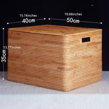 Load image into Gallery viewer, Superb Handmade Rattan Woven Storage Basket