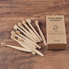 Load image into Gallery viewer, Kids Natural Bamboo toothbrush