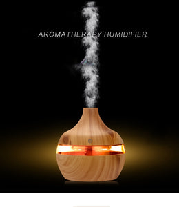 Ultrasonic WoodLine Humidifier : Aroma Oil Diffuser