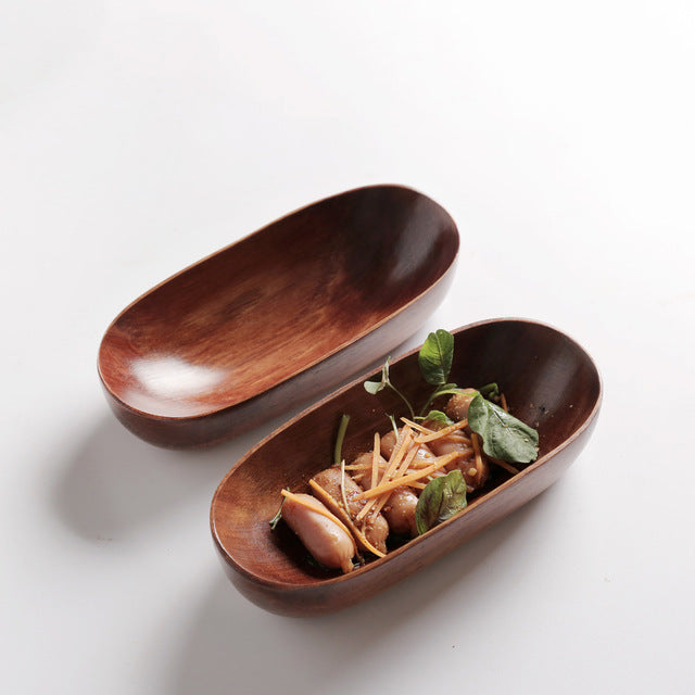 Japanese Style Wood Fruit Plat