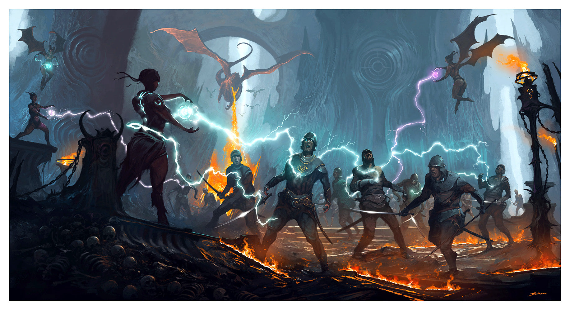 "Rumble in the Underworld by artist Alejandro ""Burda"" Burdisio"