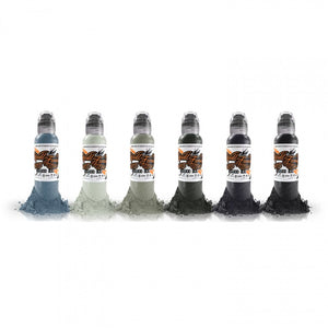 Complete Set of 6 World Famous Ink Poch's Muted Storms Set 30ml (1oz)