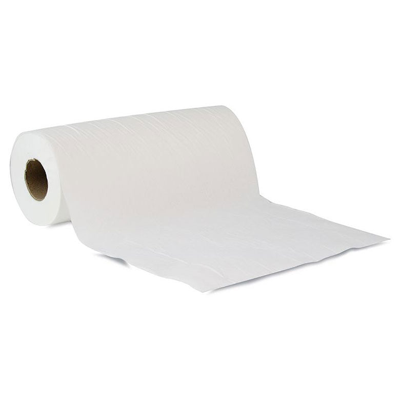 2 Ply Couch Roll 50cm Wide x 50m in White