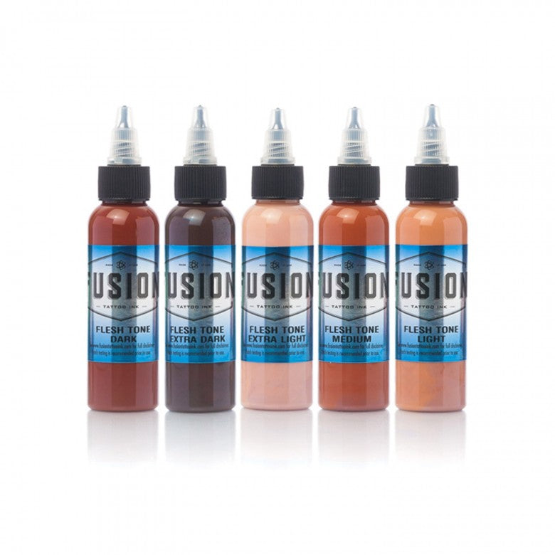 Complete Set of 5 Fusion Ink Flesh Tones