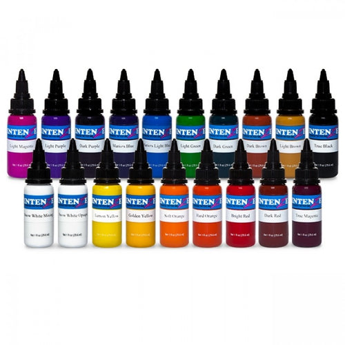 Complete Set of 19 Intenze Ink Basic Colours 30ml (1oz) - Ink Stop Consumables