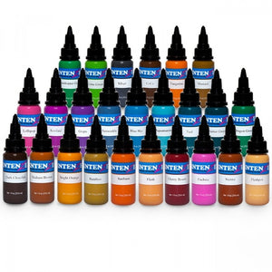 Complete Set of 25 Intenze Ink New Colours 30ml (1oz) - Ink Stop Consumables