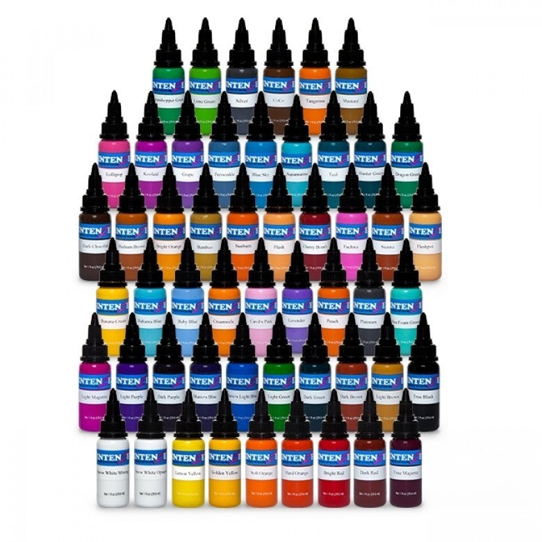 Complete Set of 54 Intenze Ink (Basic, New Original + Pastel) 30ml (1oz)