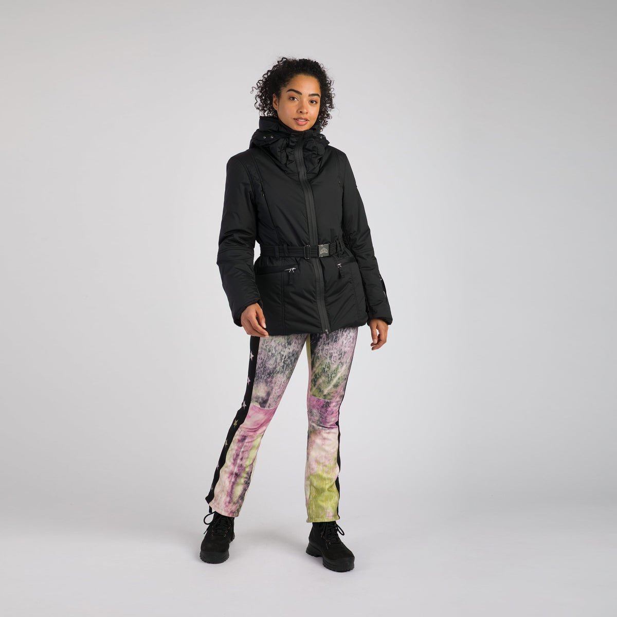 Belted Women's Ski Jacket