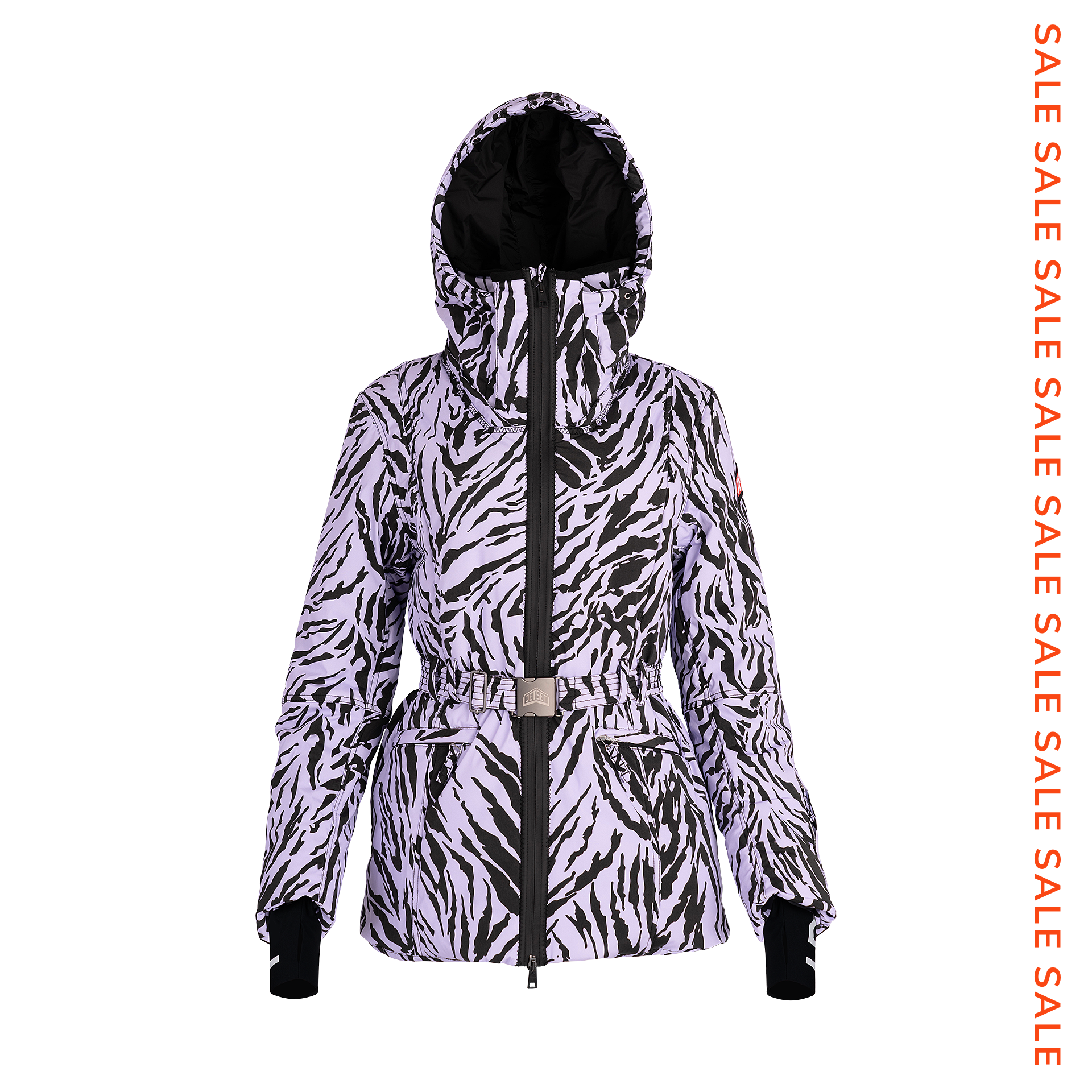 Belted Women's Ski Jacket Print