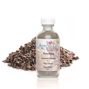 Detoxifying Coconut Charcoal & Raw Cacao Face Mask - Aeveka
