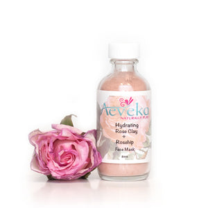 Hydrating Rose Clay & Rosehip Face Mask - Aeveka