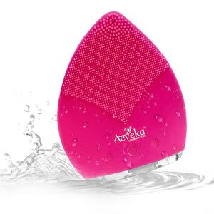 Silicone Face Cleansing Brush Hot Pink - Aeveka