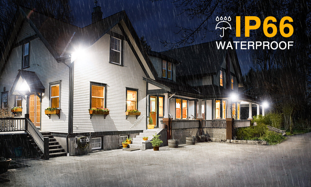 50W LED FloodLight 2 Pack, IP66 Waterproof 5000lm Super Bright LED Exterior Security Lights
