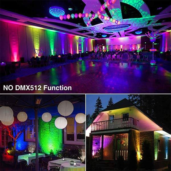 LED RGB Floodlights with Remote Control, IP66 Waterproof Dimmable Decorative