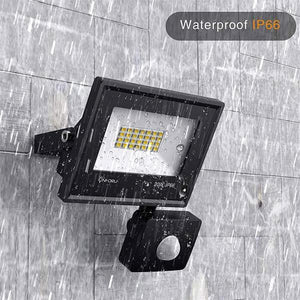20W Security Lights with Motion Sensor, 2000lm PIR Sensor Outdoor LED Floodlights, 5000K Daylight White, IP66 Waterproof