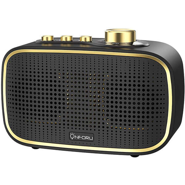 Retro Bluetooth Speaker, 20W Dual Strong Bass, IPX5 Waterproof Speaker, Bluetooth 5.0 Wireless Connection