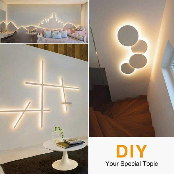 10M Dimmable LED Strip Lights Kit, 600 Units 2835 LEDs, 12V Under Cabinet Lighting Strips, LED Ribbon, Non-Waterproof Tape