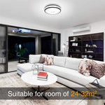32W LED Round Ceiling Light, CRI 90 Outdoor Ceiling Lamp, 2800LM IP65 Waterproof