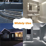 15M LED Strip Lights Kits 6000K Daylight White,  IP65 Waterproof Light Strip, 12V Power Supply with Switch