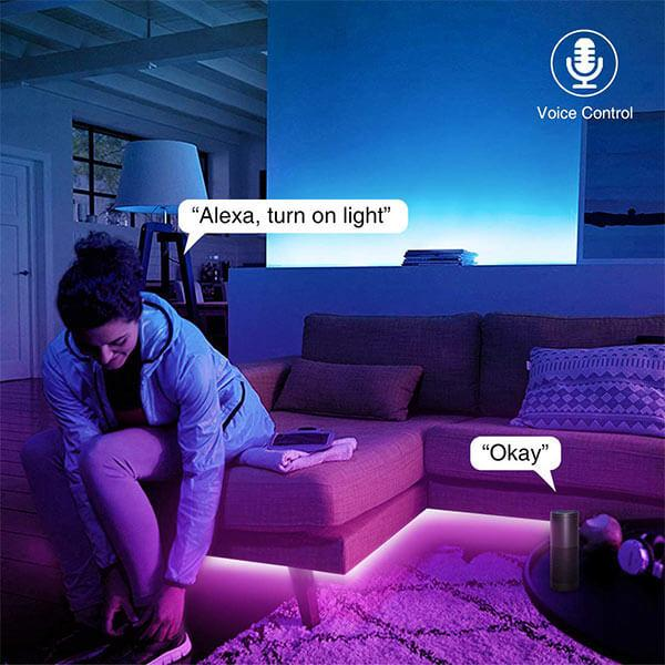 Alexa LED Strips Lights, 5m Smart WiFi RGB Light Strip, Compatible with Amazon Alexa, Google Assistant, Echo