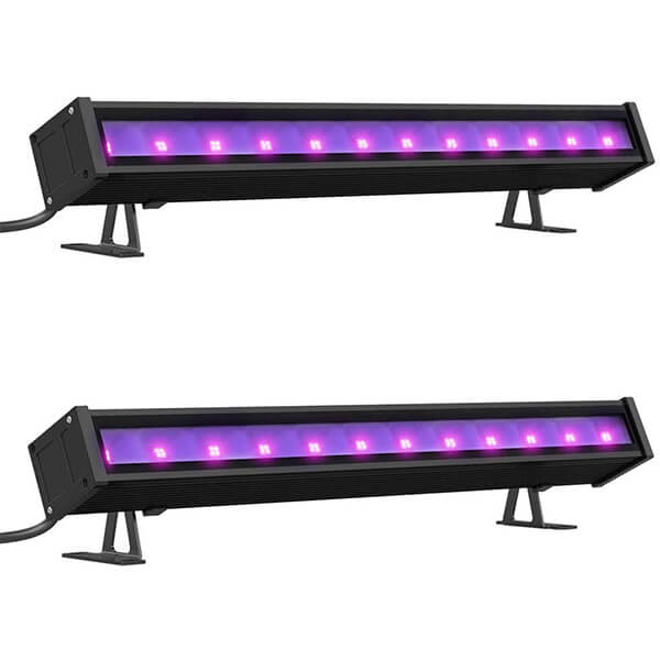 24W UV LED Black Light Bar with Plug, Ultraviolet Blacklights Tube with Switch, Wall Lights for Dance Party, Stage Lighting, Body Paint, Photography
