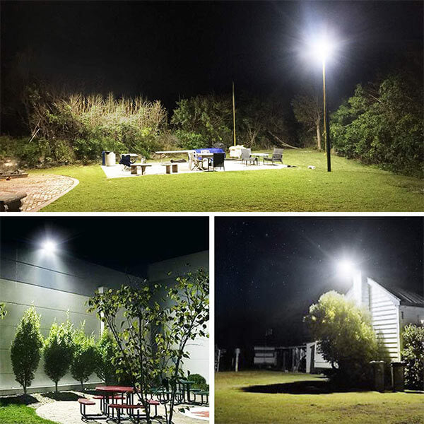120W LED Flood Light 5000K Wall Light, IP66 Waterproof Cool White LED Lights, Outdoor Floodlight for Garage, Yard, Stadium