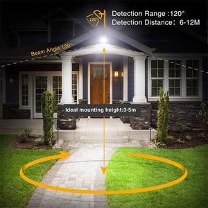 35W Security Lights with Motion Sensor 5000K Daylight White, IP66 Waterproof