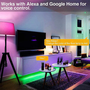 7W WiFi Smart Bulb Alexa Light Bulbs E27 LED Lamp Colour Dimmable, Works with Alexa, Echo, Google Home, Voice Remote Control by App No Hub Required 3 Pack