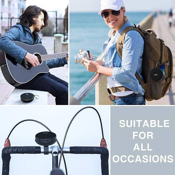 Bluetooth Wireless Speaker with Holder for Cycling, IPX7 Waterproof Bicycle Speaker With Detachable Sucker