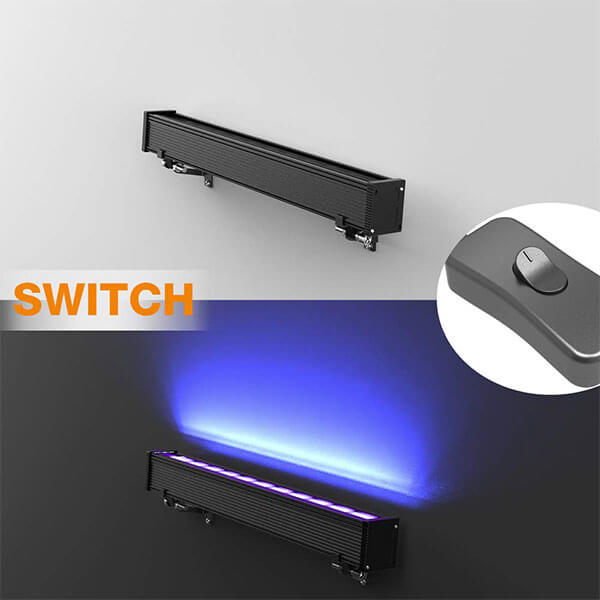 24W UV LED Black Light Bar with Plug, Wall Lights for Dance Party