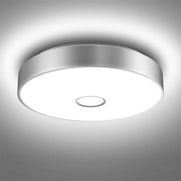 18W Flush Ceiling Light 1600LM, 5000K Daylight White Ceiling Mounted Light, CRI 90