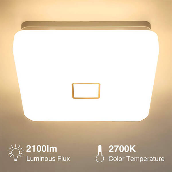 24w LED Ceiling Light 90 CRI 2700K Warm White Wall Mounted Ceiling Lamp for Living Room, Dining