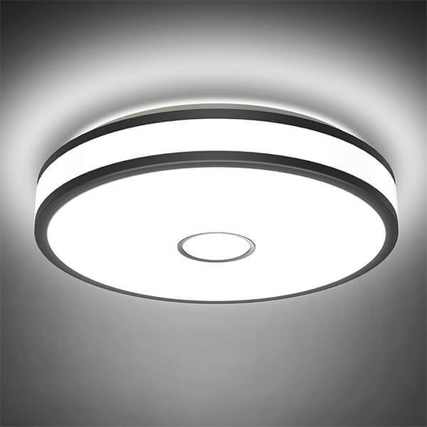 32w LED Round Ceiling Light, CRI 90 5000K Daylight White Outdoor Ceiling Lamp, 2800LM IP65 Waterproof