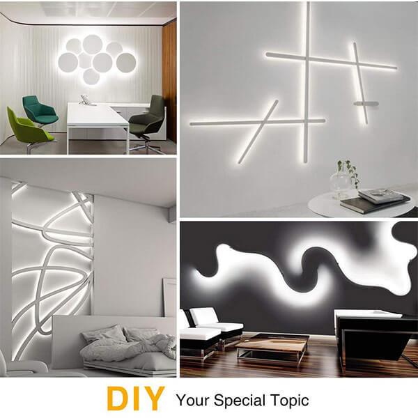 5M LED Strip Lights Dimmable Non-Waterproof Tape 5000K Daylight White