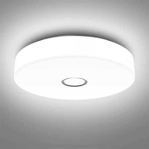18W Flush Ceiling Light 1600LM 5000K Daylight White Ceiling Mounted Light, CRI 90, Outdoor Ceiling Lamp for Bathroom, Bedroom