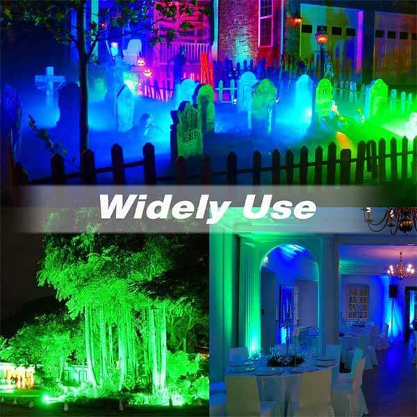 60W LED RGB Flood Lights with Remote Control, IP66 Waterproof Dimmable Decorative Floodlight 11 Colours 2 Modes