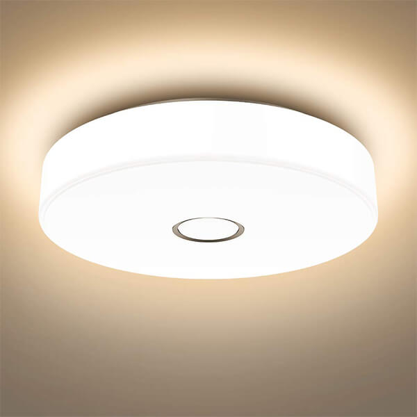 18W Flush Ceiling Light 1600LM Ceiling Mounted Light, CRI 90, Outdoor Ceiling Lamp for Bathroom, Bedroom