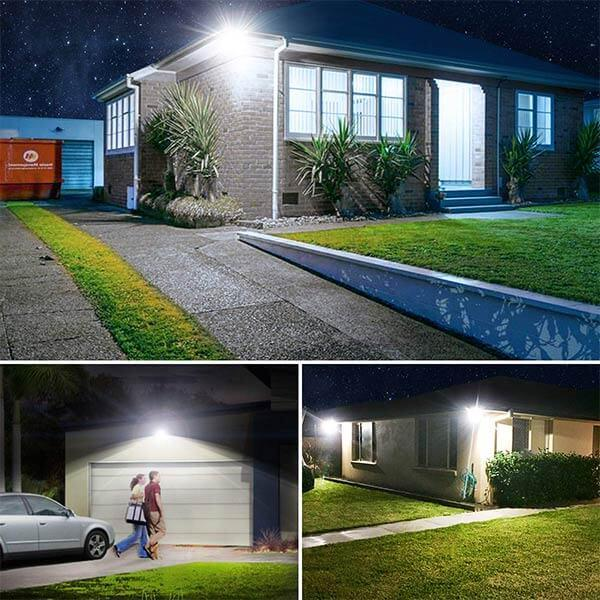 PIR LED Security Lights with Motion Sensor, 5000K Daylight White Bright PIR Flood Lights 2 Pack