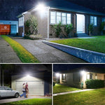 60W PIR LED Security Lights with Motion Sensor, 5000K Daylight White Bright PIR Flood Lights 2 Pack, 300W Halogen Bulb Equivalent for Garden, Garage